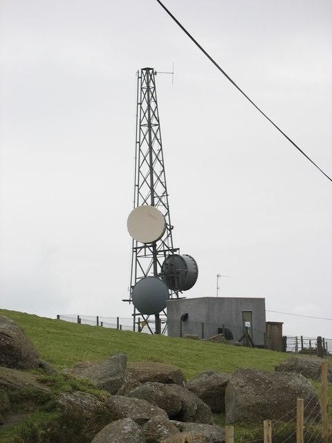 The Bwlch Mawr transmission mast