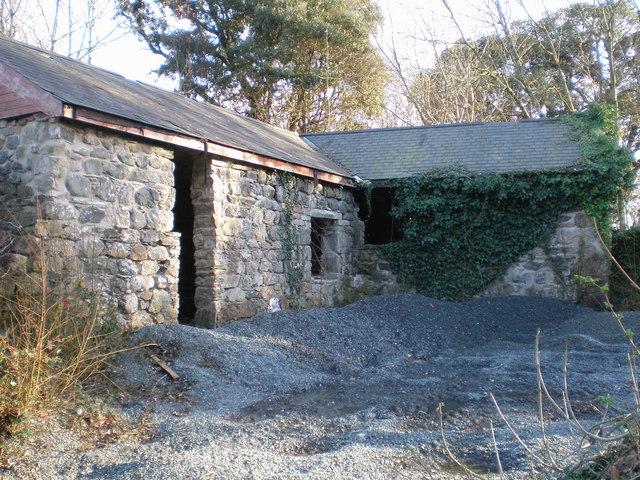 Old farm buildings at Ynysymaengwyn.