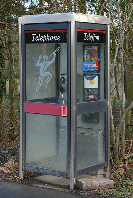 Bilingual Phonebox near Llanfihangel Helygen