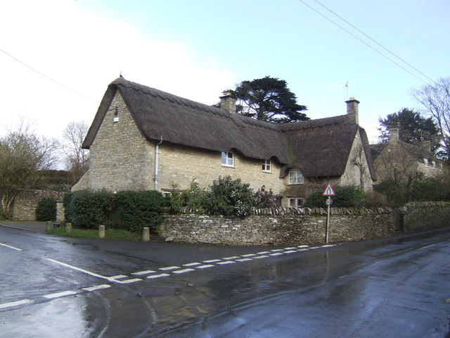 Thatched cottage at Ewen