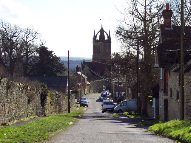 View of All Hallows Church from Upperton Road, Tillington