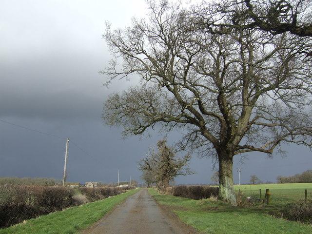Lane to Field Farm Barn