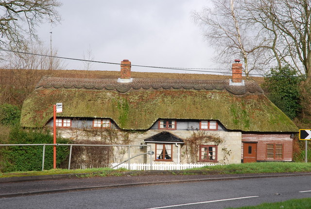 Thatched house beside A30