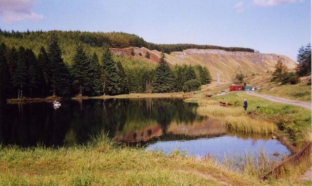 View of Ledcrieff Fishery & Escarpment