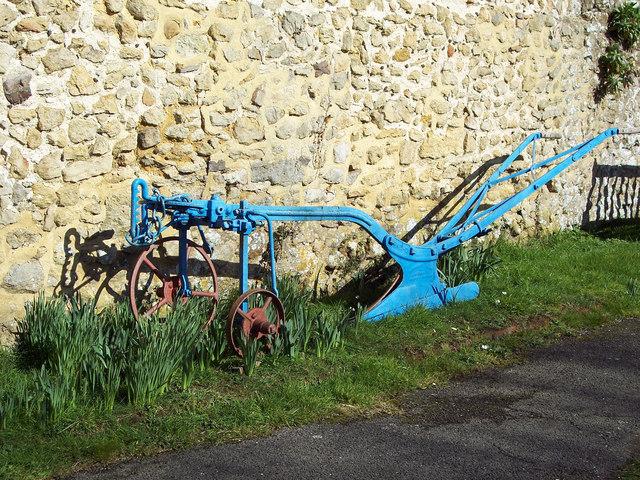 Plough in churchyard, All Hallows Church