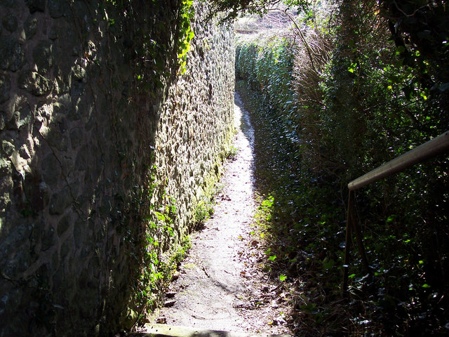 Enclosed footpath from All Hallows Church to the A272 at Tillington