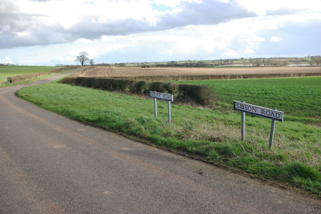 Sheepy Road/Sibson Road by Cool Hill Farm