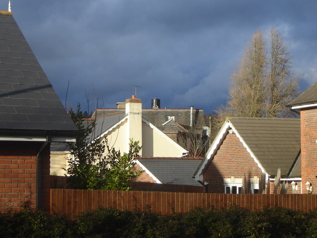 Rooftops of new housing estate, Crick, Monmouthshire