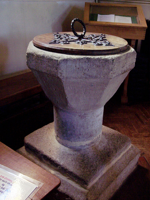 All Hallows Church, Tillington - Font