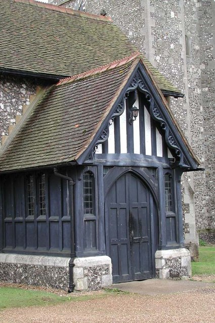 St James, Bushey, Herts - Porch