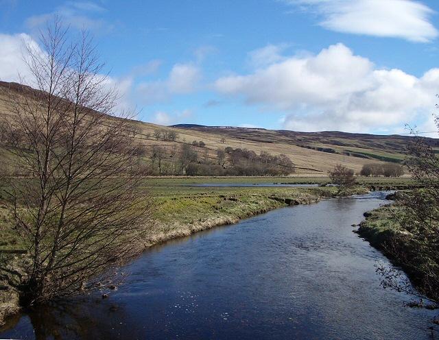 River Quaich looking downstream