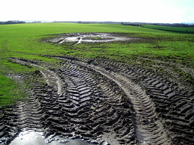 Muddy Field Near West Roucan
