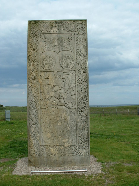 Detail of the Hilton of Cadboll Pictish stone