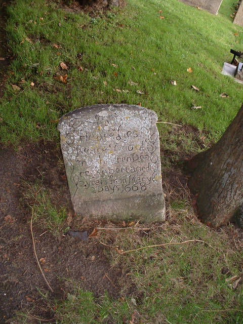 Gravestone with a sad inscription