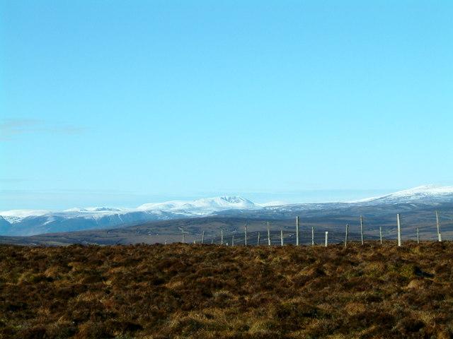 Lochnagar & Mount Keen from Cairn 'O' Mount