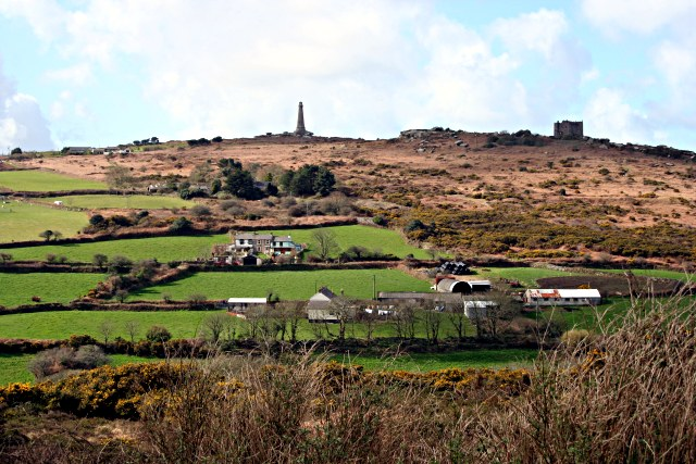Carn Brea Hill from the east