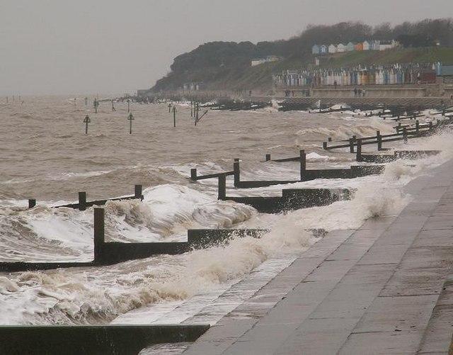 Stormy Seas at  Felixstowe