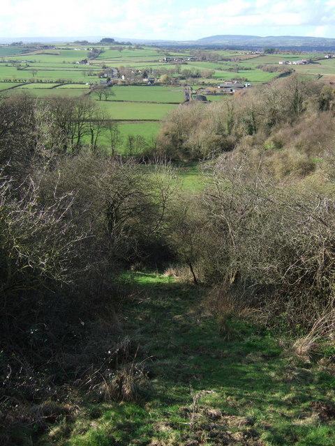 Path down Crimson Hill