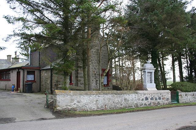 War memorial for  lost local men of Culvie.