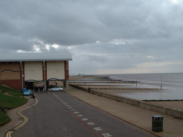 View along the promenade at Hunstanton.