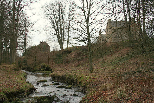 Crombie Castle by the Crombie Burn.