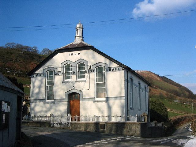 Capel Cwrt y Cadno.  Cwrt y Cadno Chapel