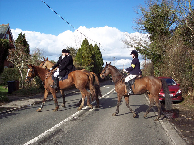 The hunt near Lower Horncroft