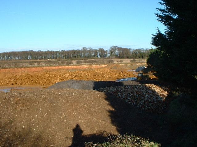 The Frimstone quarry at Snettisham.