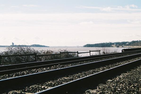 Railway by the River Severn, near Blakeney, Glos