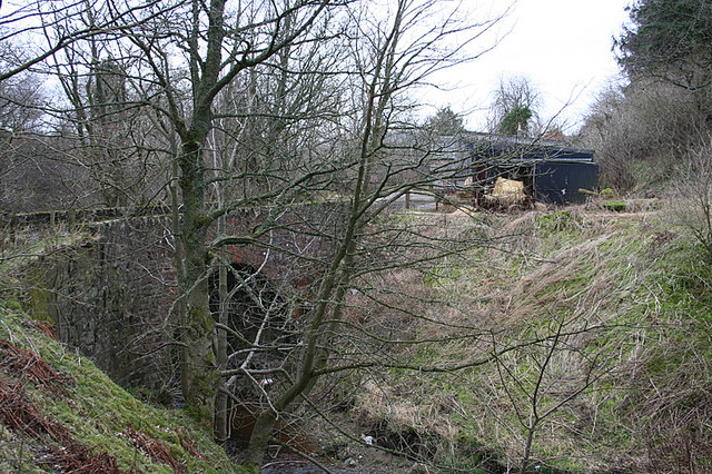 Bridge over the Burn of Auchintoul by Mill of Kinnairdy.
