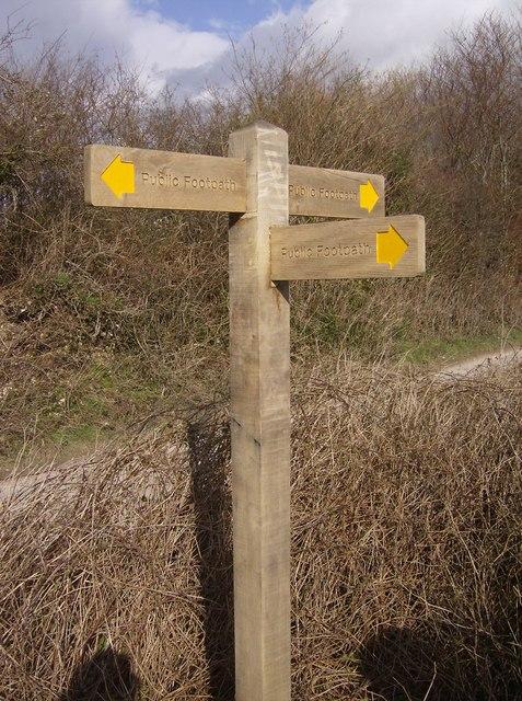 Footpath signpost