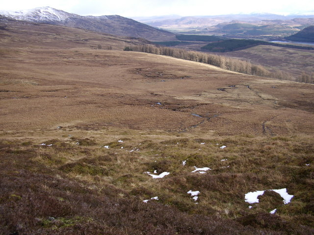 South east slope of Meall an Domhnaich