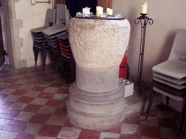 Holy Cross Church, Bignor - Font