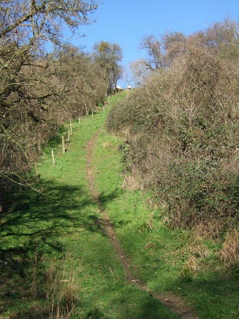 Path up Crimson Hill