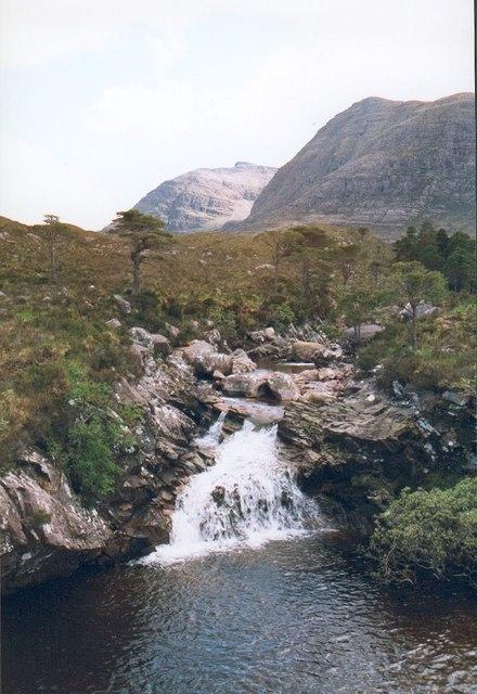 Waterfall on the Allt nan Lub