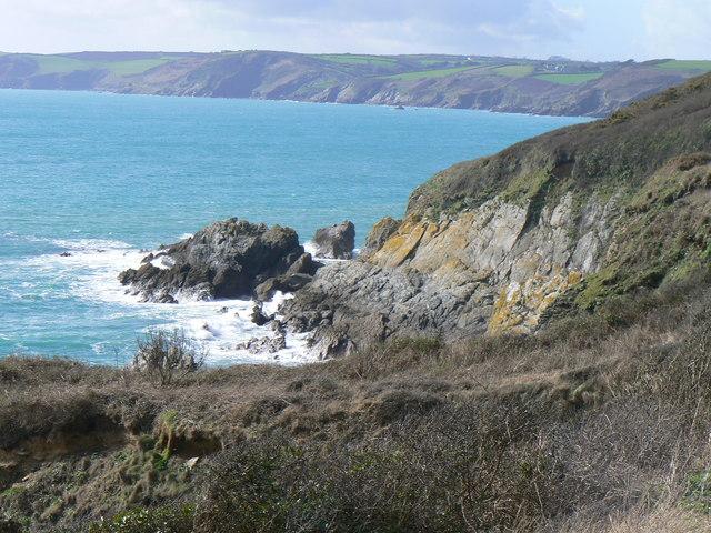 Black Rock and Veryan Bay