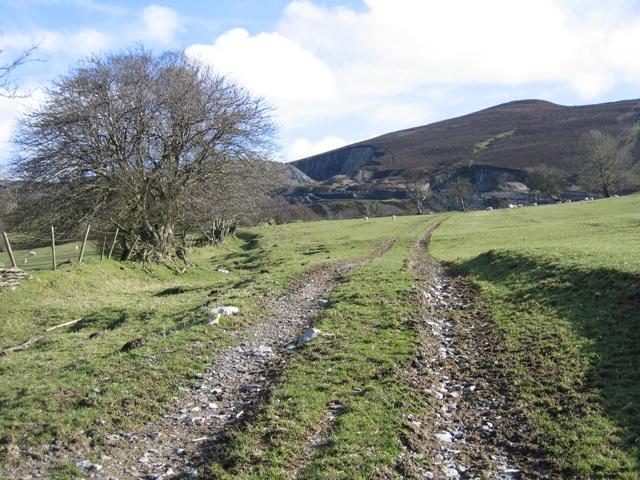 Tractor Track near Gwern-brain-uchaf