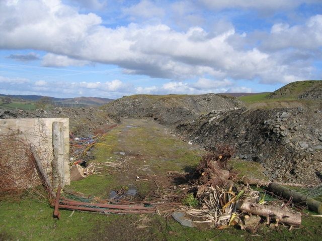 Flattened Quarry Boundary Fence