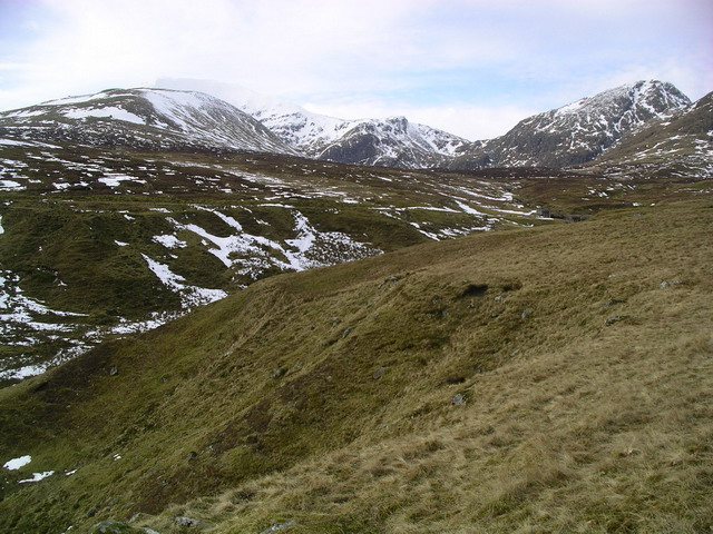 South west slopes of Meall Greigh