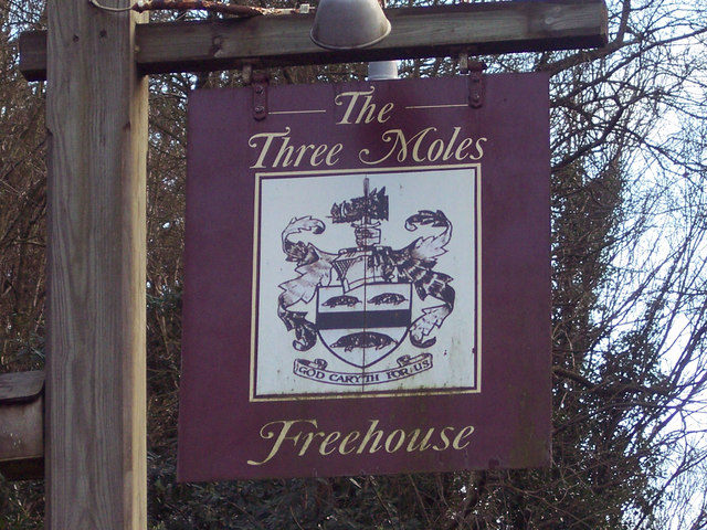 Sign for the Three Moles, Selham