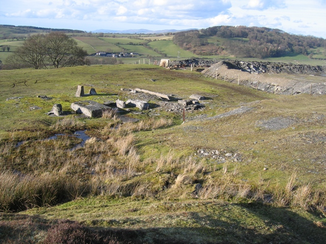Remains of Quarry Buildings below Llantysilio Mountain