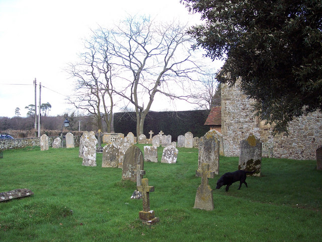 The churchyard at St James Church, Selham
