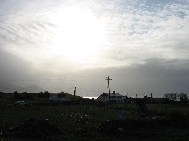 A mackerel sky above Aberdesach