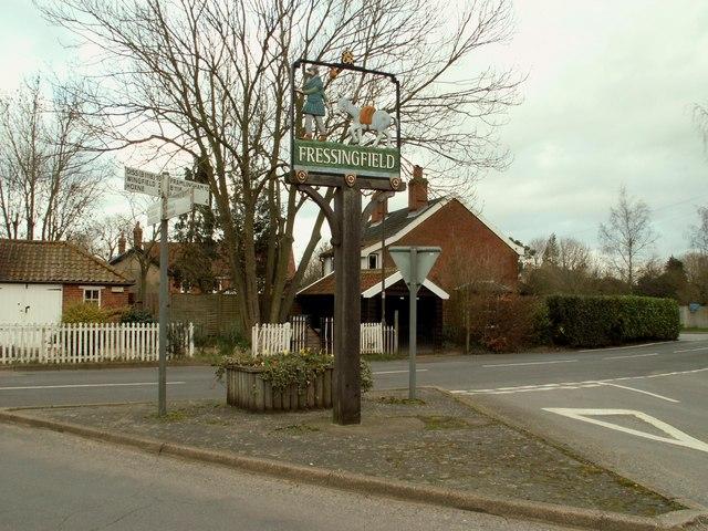 Fressingfield's village sign
