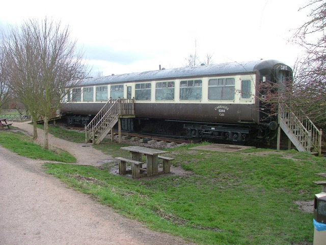 Railway carriage cafe  on the greenway