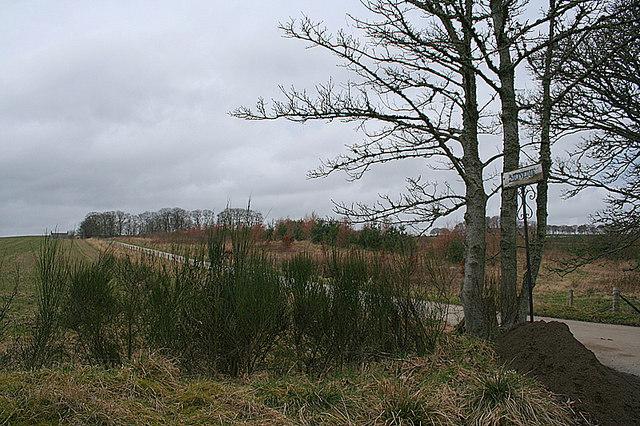 The lane to Monedie Farm