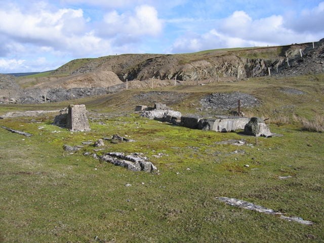 Remains of Quarry Buildings below Llantysilio Mountain #2