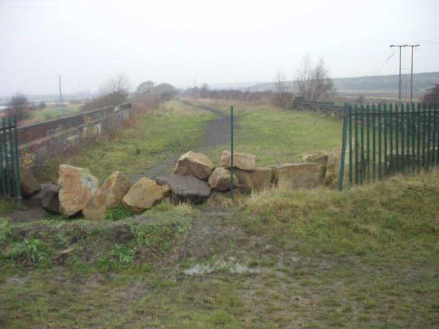 Disused railway bridge over the River Dearne.