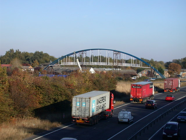 A14 Cycle Bridge under construction