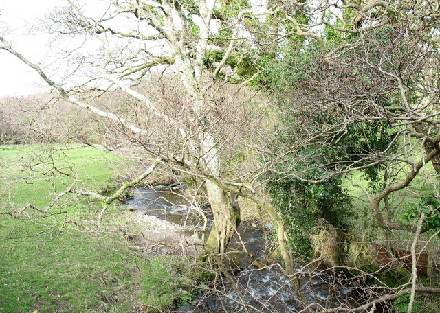 Afon Desach at Pont Faen